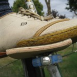 soft soled shoe on an Eggbeater for 35 miles over gravel