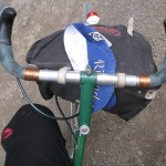 carradice bag, rivendell cap and quickbeam.