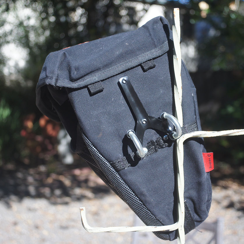 mounted water-bottle bracket on the seat-bag