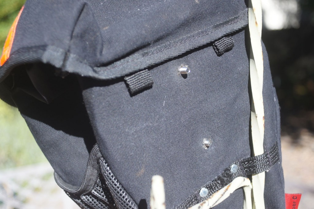 carradice mounting bolts to use the bag as a front bag instead of a seat bag.