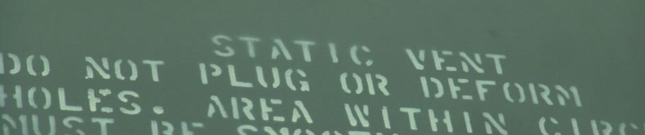 static vent do not plug or deform