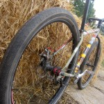 60mm Schwalbe rubber on a Fisher Utopia