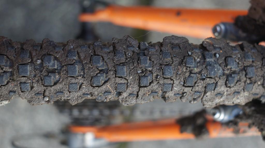 caked mud