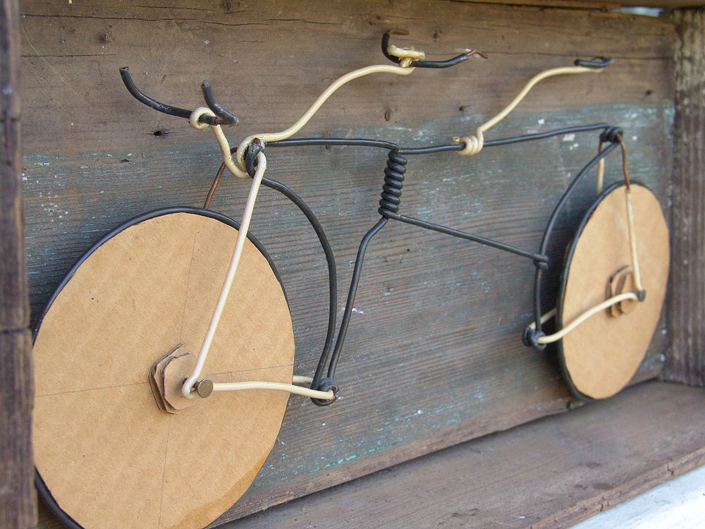 bicycle tandem assemblage sculpture