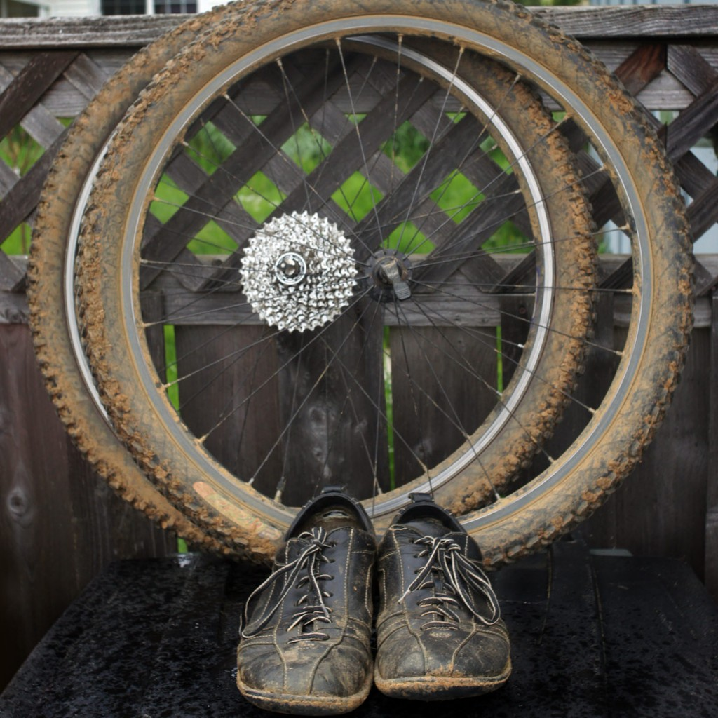 muddy Born shoes and bontrager wheels