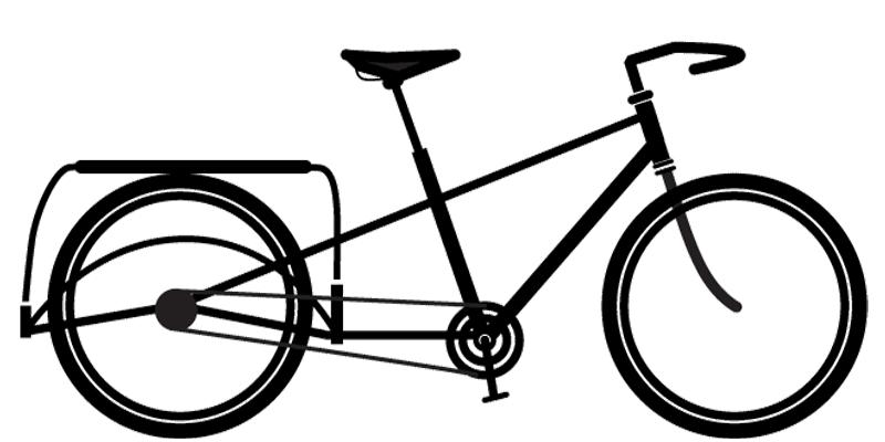Pereira longtail cargo bike silhouette