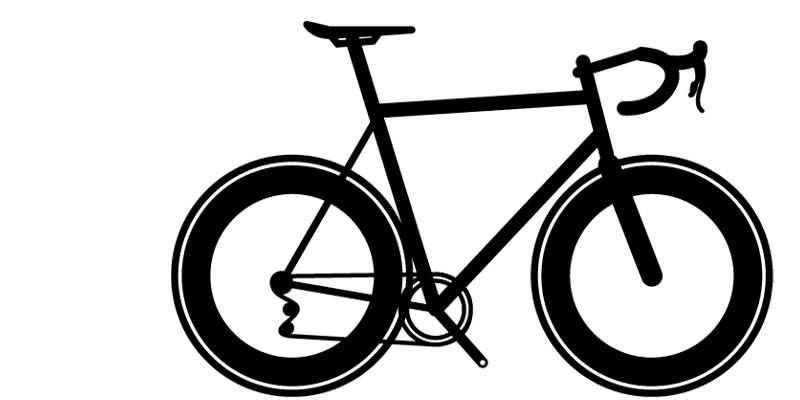 Vanilla Speedvagen race bike silhouette