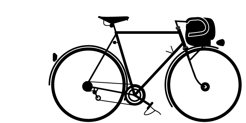 Rene Herse Randoneur Bike silhouette