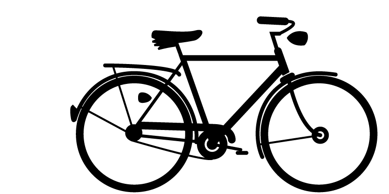 Raleigh Superbe dutch-style utility bike silhouette