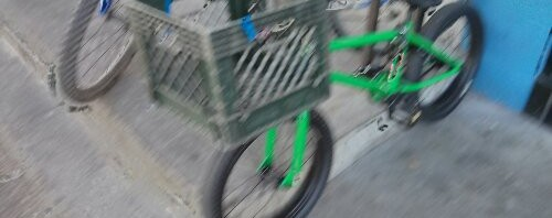 BMX milk crate rack