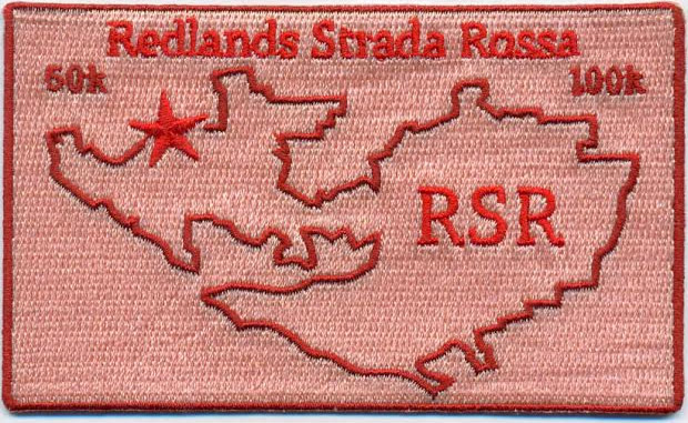 Redlands Strada Rossa embroidered patch